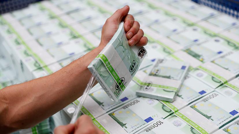 Курс евро опустился ниже 75 рублей