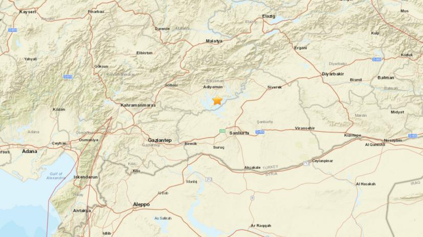 Около 40 человек пострадали при землетрясении на юго-востоке Турции