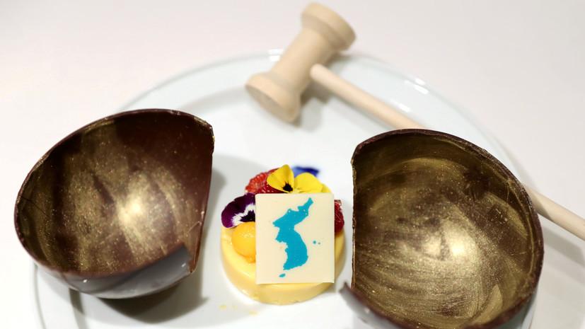 Япония выразила Сеулу протест из-за десерта сизображением неоднозначных  островов Лианкур