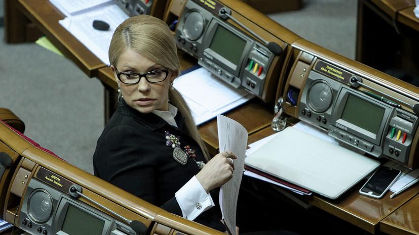 Опрос: Тимошенко лидирует в президентском рейтинге на Украине