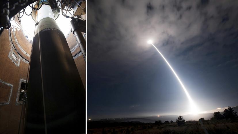 США испытали баллистическую ракету  Minuteman III, способную нести ядерный заряд