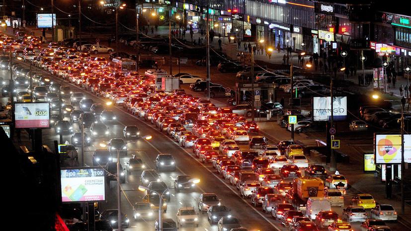 Пробки в Москве достигли 9 баллов