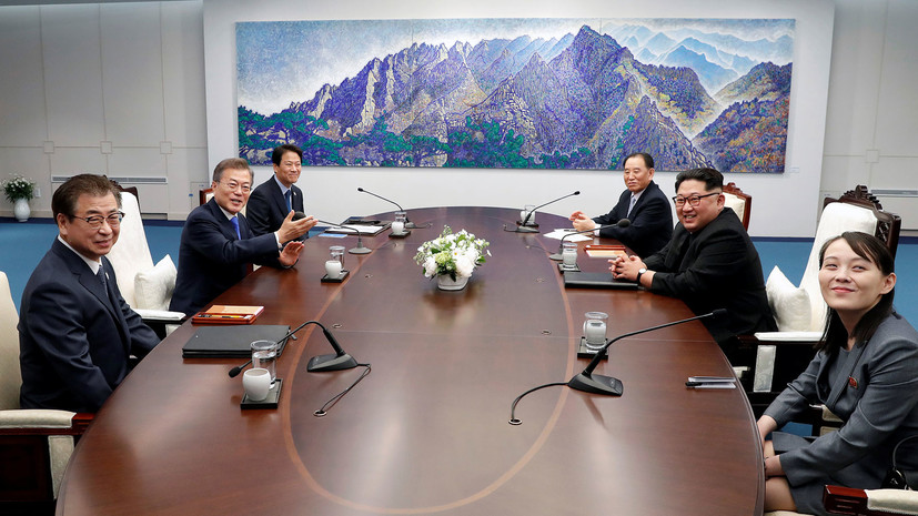 Завершился первый раунд переговоров между главами КНДР и Южной Кореи