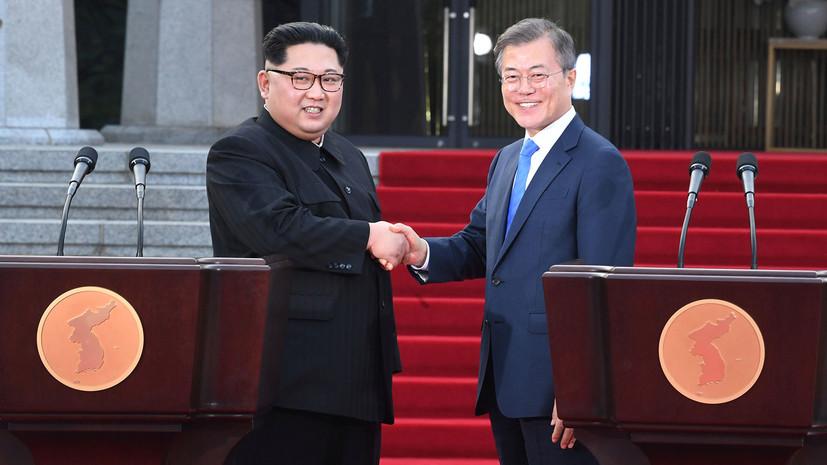 Лидеры КНДР и Южной Кореи договорились соединить железные дороги двух стран