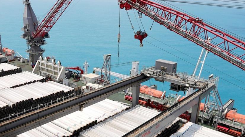 «Газпром»: первая нитка «Турецкого потока» достигнет берега Турции в мае