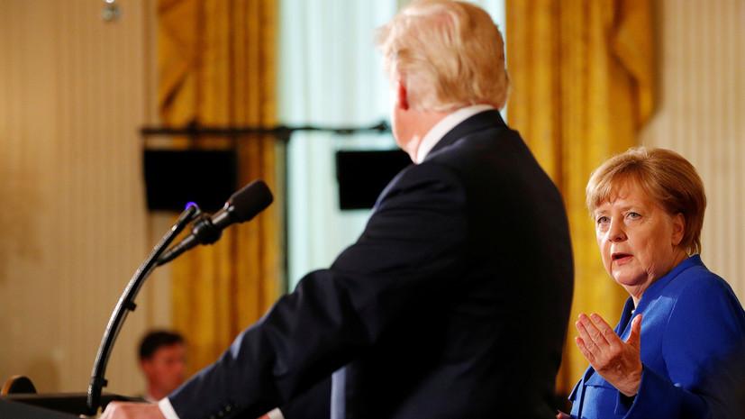 Меркель заявила, что Германия и США оценивают эффект санкций на Россию
