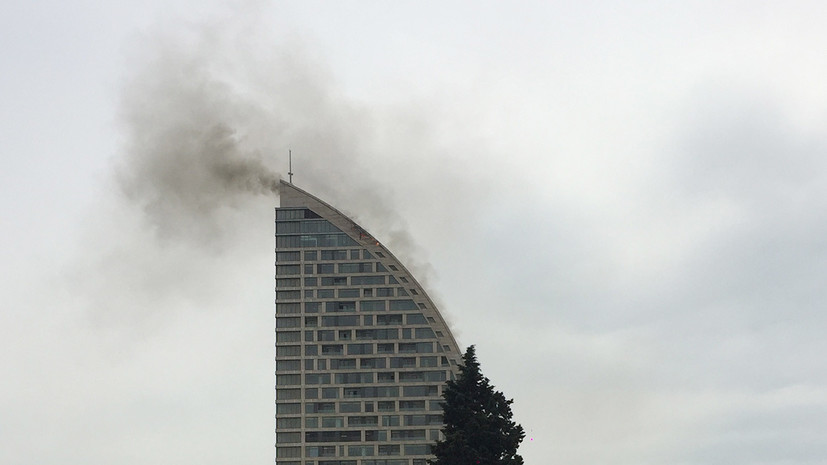 СМИ сообщили о пожаре в здании Trump Tower в Баку