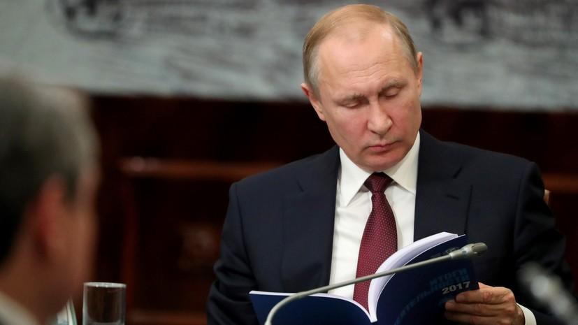 Путин поручил правительству подготовить план мероприятий Года театра
