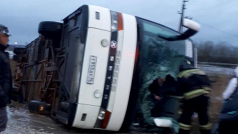 В Удмуртии произошло ДТП с участием экскурсионного автобуса