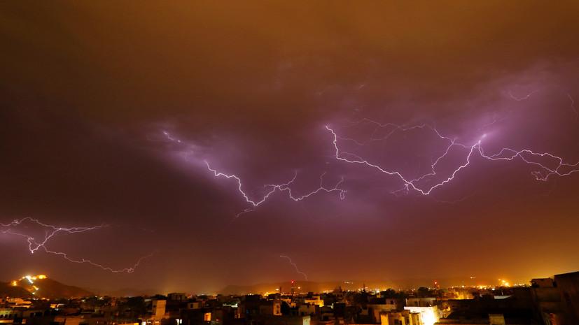 СМИ: В Индии из-за ударов молний погибли 13 человек и более 25 пострадали