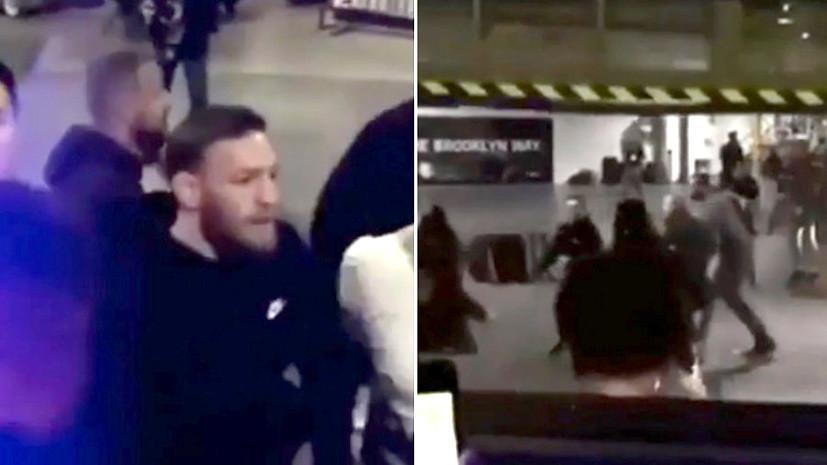 Появилось полное видео нападения Макгрегора наавтобус с солдатами UFC