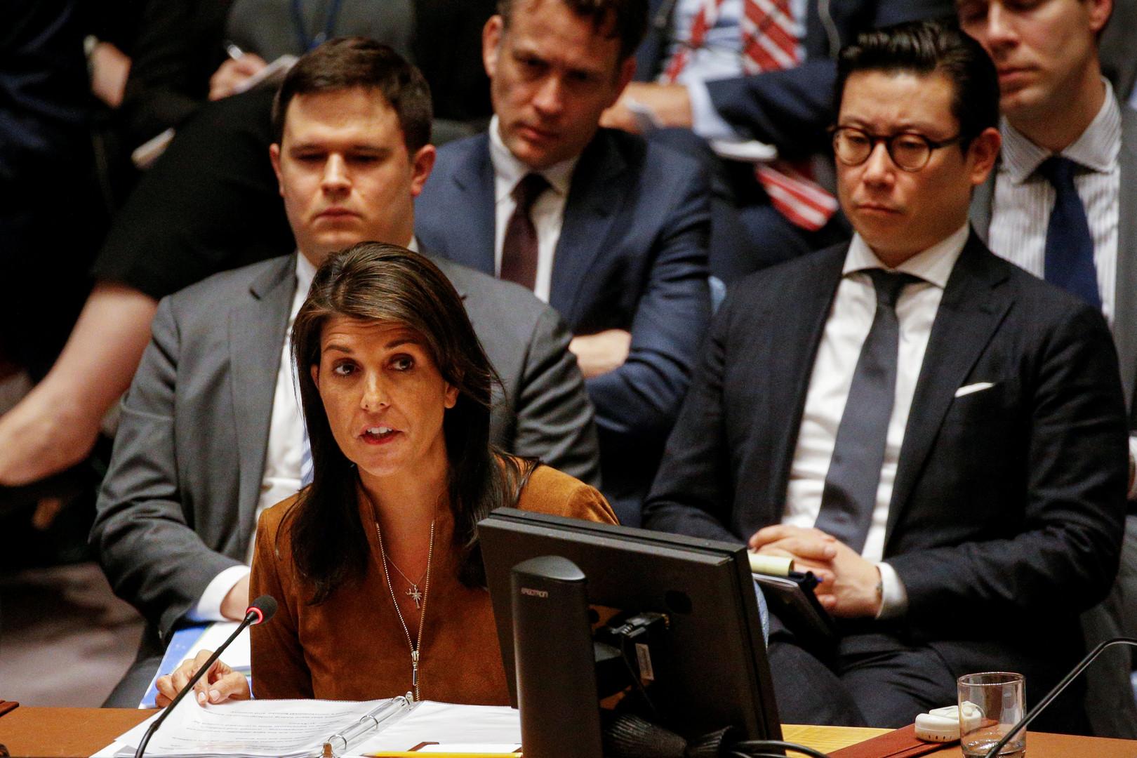 Последнее средство дипломатии: Небензя поцеловал Никки Хейли перед совещанием Совбеза ООН