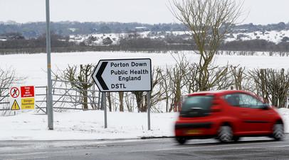 Указатель на Портон-Даун (графство Уилтшир)