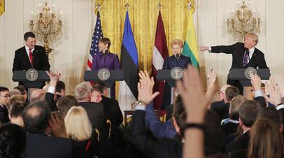 Встреча президента США Дональда Трампа с лидерами прибалтийских стран в Вашингтоне
