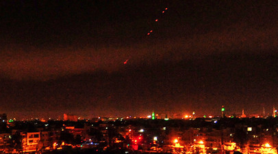 Американская ракета над Дамаском