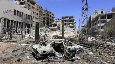 Руины города Дума в Сирии