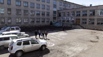 Двор общеобразовательной школы №1 в Стерлитамаке
