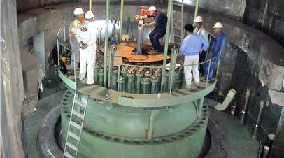 Атомный реактор АЭС В Бушере
