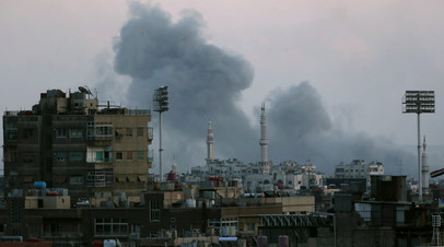 Боевики обстреляли южную окраину Дамаска