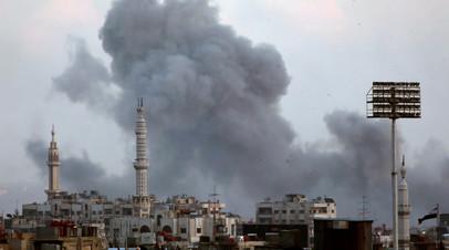 Источник: армия Сирии наносит удары по командным пунктам ИГ на юге Дамаска