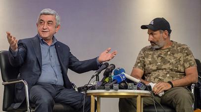 «Я выполняю ваше требование»: Саргсян покинул пост премьер-министра Армении