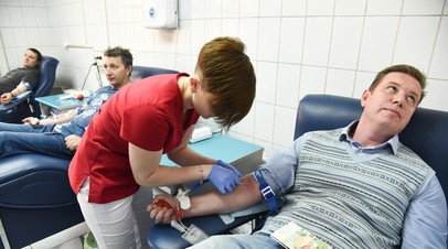 Московские власти повысили выплаты донорам крови на 20%