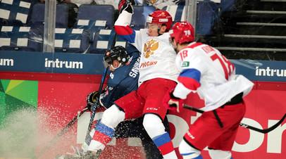 Сборная России в матче против команды Финляндии на Шведских играх