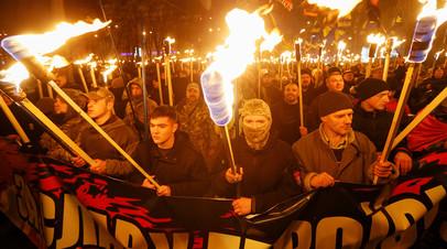 Факельное шествие украинских нацистов