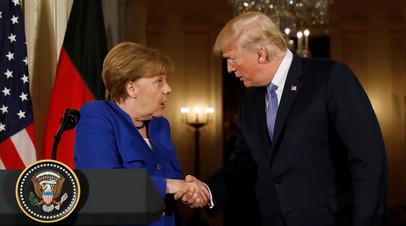 Ангела Меркель и Дональд Трамп