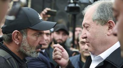 Президент Армении провёл встречи с экс-премьером и лидером оппозиционного движения