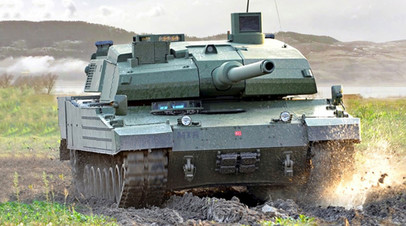 Турецкий танк Altay на испытаниях