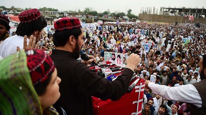 Движение PTM во время митинга