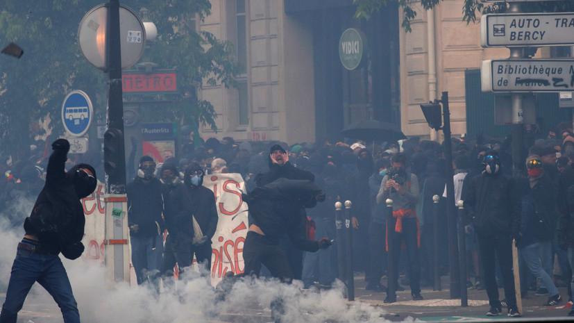 В Париже во время первомайского шествия произошли беспорядки