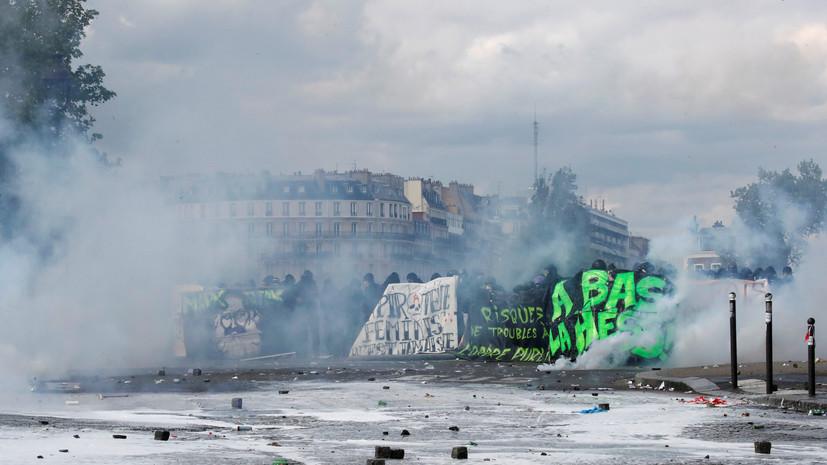 В Париже 40 человек доставили в полицию после беспорядков на первомайском шествии