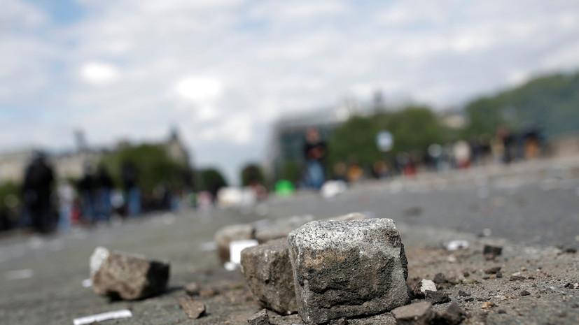 Макрон проинформирован о беспорядках во время первомайского шествия в Париже