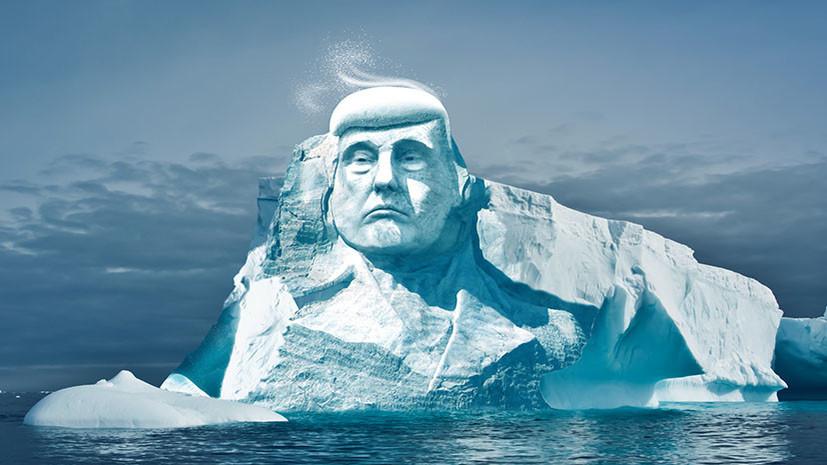 Экологи заявили о намерении создать в Арктике 35-метровую голову Трампа изо льда