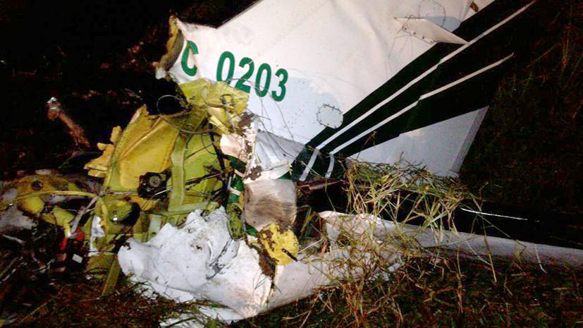 При крушении полицейского самолёта в Колумбии погибли четыре человека