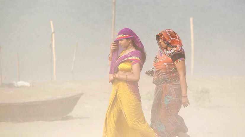 Число погибших из-за песчаной бури в Индии возросло до 109