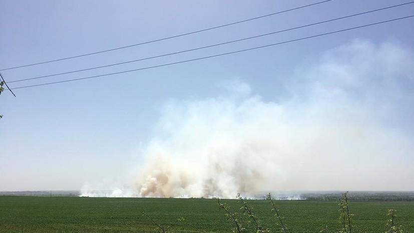 Полиция Украины закрыла въезд в Балаклею после пожара на складе боеприпасов