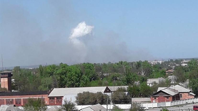 В Балаклее проходит частичная эвакуация жителей из-за пожара на складе боеприпасов