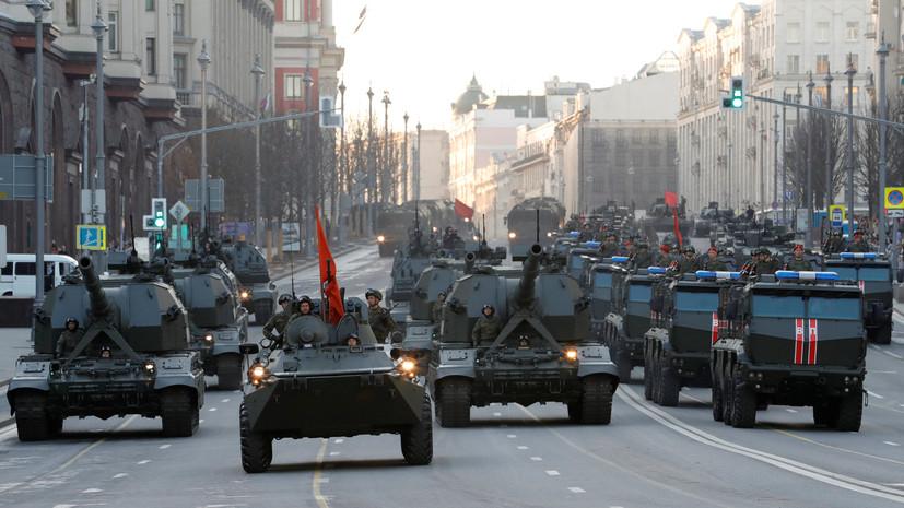 В Москве стартовала последняя вечерняя репетиция парада Победы