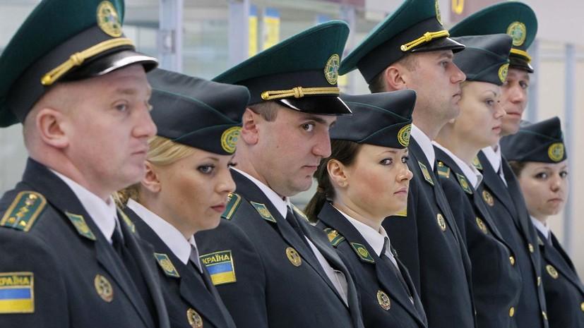 Пограничники не пропустили на Украину двух россиян с георгиевскими лентами