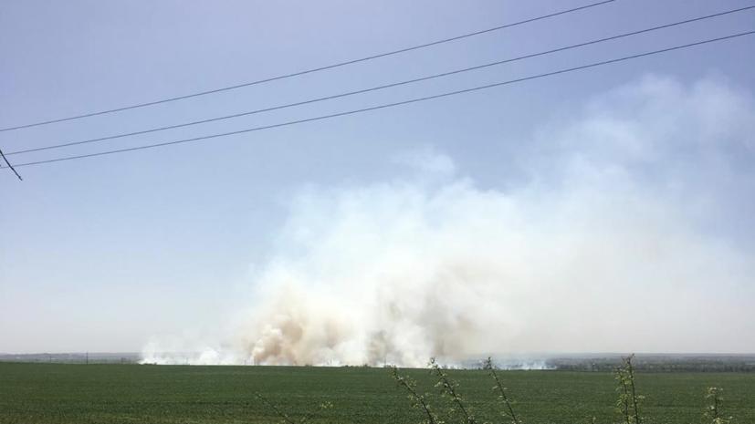 Минобороны Украины назвало три версии причины пожара на складе в Балаклее
