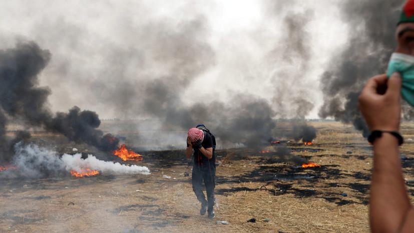 Не менее 80 палестинцев пострадали в стычках на границах сектора Газа