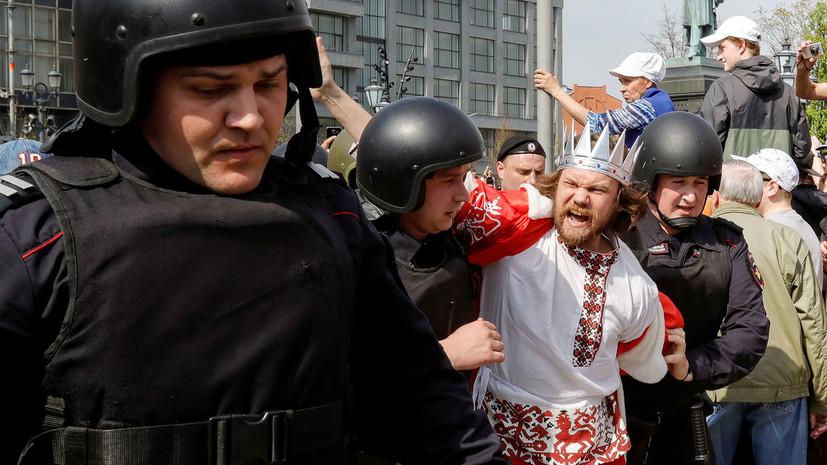 МВД: около 1,5 тысячи человек участвуют в несогласованной акции в центре Москвы