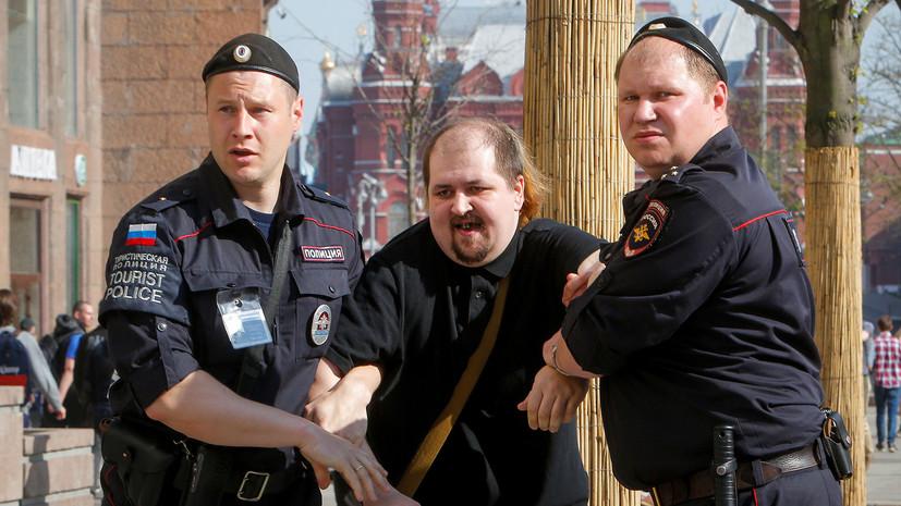 МВД: около 300 человек задержаны на несогласованной акции в центре Москвы