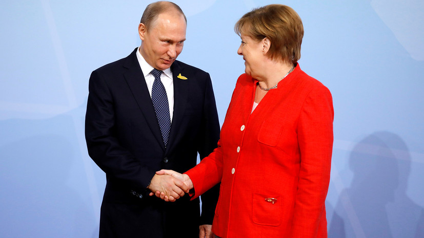 Путин проведёт переговоры с Меркель в Сочи