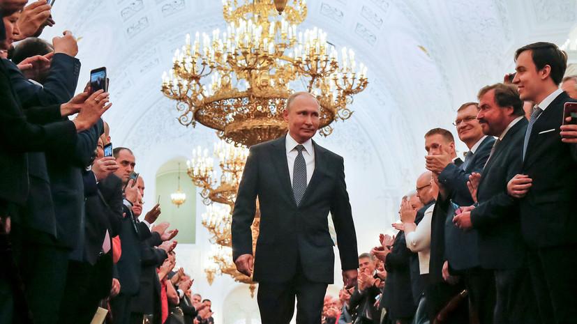 Глава Абхазии поздравил Путина со вступлением в должность президента