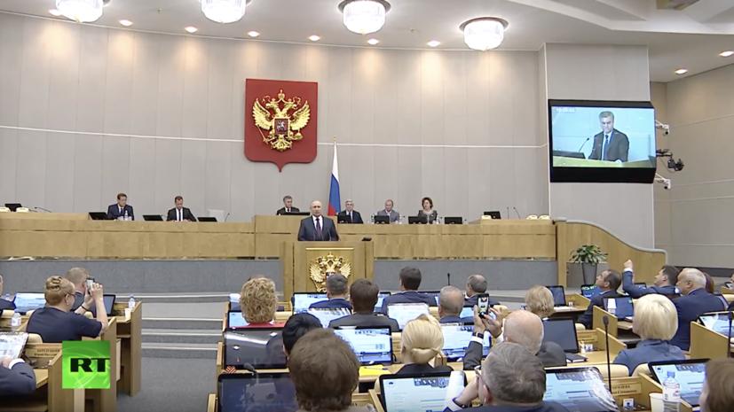 Путин попросил депутатов поддержать кандидатуру Медведева на пост премьер-министра