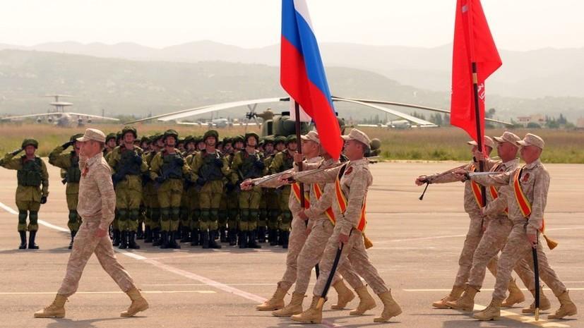 Военный парад в честь Дня Победы состоялся на авиабазе Хмеймим в Сирии